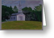 Reception Painting Greeting Cards - Martha Mary Chapel Greeting Card by William Demboski