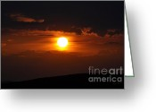 Western Massachusetts Greeting Cards - Martian Sunset Greeting Card by Luke Moore