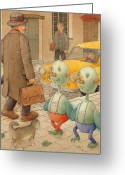 Fantastic Greeting Cards - Martians Greeting Card by Kestutis Kasparavicius