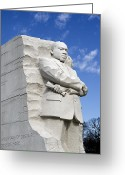 Martin Luther King Greeting Cards - Martin Luther King Jr Memorial in Washington DC Greeting Card by Brendan Reals
