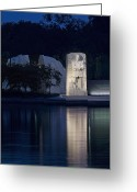 Martin Luther King Greeting Cards - Martin Luther King Jr Memorial Overlooking the Tidal Basin - Washington DC Greeting Card by Brendan Reals