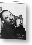 The Orator Greeting Cards - Martin Luther King, Jr Greeting Card by Photo Researchers