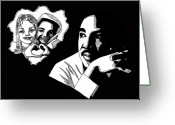 Freedom Fighter Brand Greeting Cards - Martin Luther King Jr. Greeting Card by Scarlett Royal