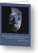 Civil Rights Digital Art Greeting Cards - Martin Luther King Poster Greeting Card by Walter Neal