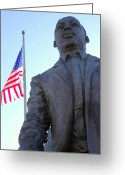 Civil Rights Greeting Cards - Martin Luther King statue Portland OR. Greeting Card by Gino Rigucci
