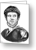 Bay Drawings Greeting Cards - Martin St-Louis Greeting Card by Murphy Elliott