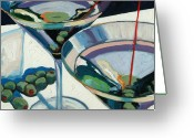 Trumpet Glass Greeting Cards - Martini Greeting Card by Christopher Mize