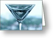 Absolut Greeting Cards - Martini II Greeting Card by Rene Triay