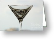 Absolut Greeting Cards - Martini III Greeting Card by Rene Triay