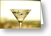 Absolut Greeting Cards - Martini IX Greeting Card by Rene Triay