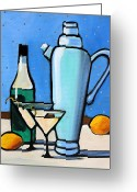 Lemons Greeting Cards - Martini Night Greeting Card by Toni Grote