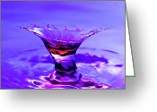 Liquid Greeting Cards - Martini Splash Greeting Card by Anthony Sacco
