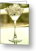 Absolut Greeting Cards - Martini XIII Greeting Card by Rene Triay