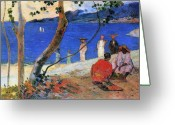 Gauguin; Paul (1848-1903) Greeting Cards - Martinique Island Greeting Card by Paul Gauguin