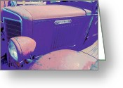 Rusted Cars Digital Art Greeting Cards - Marty Marola Greeting Card by Chuck Re