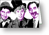Opera Greeting Cards - Marx Brothers Greeting Card by Dean Caminiti