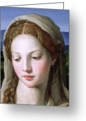 Baby Jesus Greeting Cards - Mary Greeting Card by Agnolo Bronzino