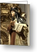 Spaniards Greeting Cards - Mary Figure Greeting Card by Bob Christopher