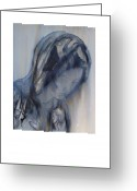 Pieta Painting Greeting Cards - Mary from The Pieta in Rome Greeting Card by Ruth Hobart