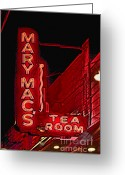 Photographers Ellipse Greeting Cards - Mary Macs Resturant Atlanta Greeting Card by Corky Willis Atlanta Photography