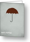 Children Greeting Cards - Mary Poppins Greeting Card by Christian Jackson