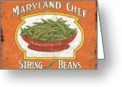 Maryland Greeting Cards - Maryland Chef Beans Greeting Card by Debbie DeWitt