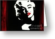 Marylin Greeting Cards - Marylin Pop Art Portrait Greeting Card by Jessie Art