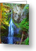 Clods Greeting Cards - Marymere Falls Greeting Card by Jim Moore