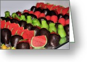 Dipped Greeting Cards - Marzipan and Chocolate Greeting Card by Kristin Elmquist