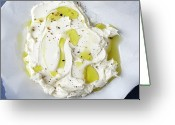 Directly Above Greeting Cards - Mascarpone Cheese Greeting Card by James And James