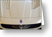 Hood Ornament Greeting Cards - Maserati Hood Emblem Greeting Card by Jill Reger