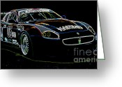 Super Car Greeting Cards - Maserati Greeting Card by Sebastian Musial