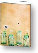 Buttercups Greeting Cards - Mason Jars Greeting Card by Stephanie Frey