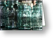 Mason Jars Photo Greeting Cards - Mason Greeting Card by Meaghan Jacklitch