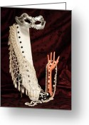 Necklace Greeting Cards - Masquerade Greeting Card by Tom Mc Nemar