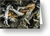 Wood Sculpture Greeting Cards - Mass Grave Greeting Card by Donna Blackhall