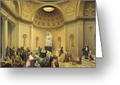 Neo-classical Greeting Cards - Mass in the Expiatory Chapel Greeting Card by Lancelot Theodore Turpin de Crisse