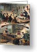 Winslow Homer Greeting Cards - Mass.: U.s. Arsenal, 1861 Greeting Card by Granger