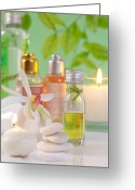 Merchandise Photo Greeting Cards - Massage Spa Concepts Greeting Card by Atiketta Sangasaeng