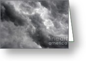 Darken Greeting Cards - Masses Of Dark Clouds Greeting Card by Michal Boubin