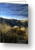 Chains Greeting Cards - Massif of Sancy in Auvergne. France Greeting Card by Bernard Jaubert
