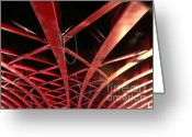 Large Steel Cross Greeting Cards - Massive Girder Bridge Greeting Card by Yali Shi