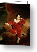 Seated Greeting Cards - Master Charles William Lambton Greeting Card by Sir Thomas Lawrence