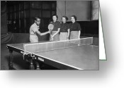 Table Tennis Greeting Cards - Master Stroke Greeting Card by David Savill
