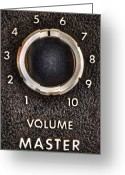 Tube Amp Greeting Cards - Master Volume Greeting Card by Scott Norris