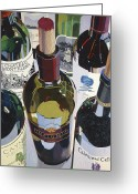 Wine Bottle Greeting Cards - Masters of the Art Greeting Card by Christopher Mize