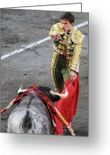 Torero Greeting Cards - Matador El Juli Greeting Card by Rafa Rivas