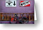 Biking Greeting Cards - Matador Greeting Card by Elena Nosyreva
