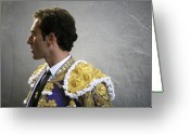 Torero Greeting Cards - Matador Salvador Cortes I Greeting Card by Rafa Rivas