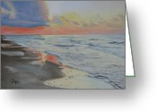 Jimmie Greeting Cards - Matagorda Beach Sunrise Greeting Card by Jimmie Bartlett